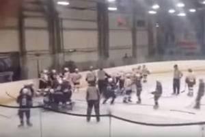 В России дети устроили массовое побоище на хоккейном матче: видео драки
