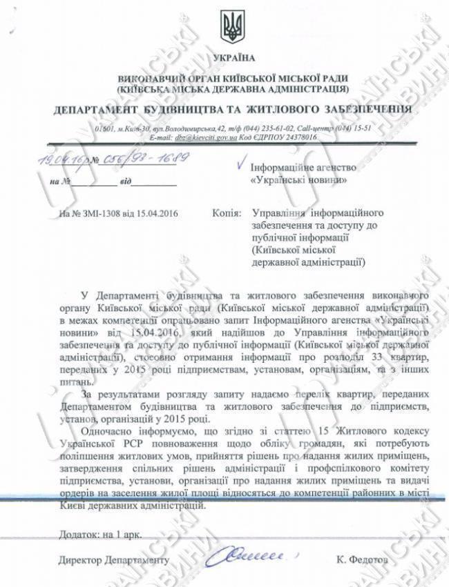 Квартирную очередь в Киеве подвинули ради 15 судей, 4 прокуроров, 2 СБУшников и нацгвардейцев
