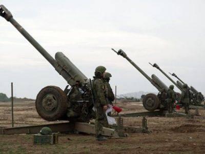 В Абхазии российские военные провели стрельбы из минометов и гаубиц