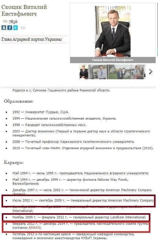 Три вопроса к биографии лидера Аграрной партии Виталия Скоцика