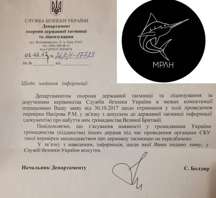 При допуске к гостайне СБУ не проверяла Насирова на второе гражданство