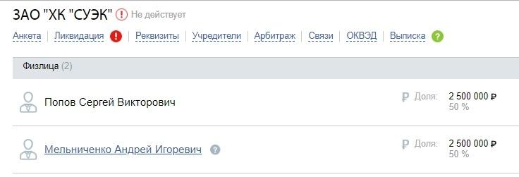 Компания Андрея Мельниченко не может сосчитать долги