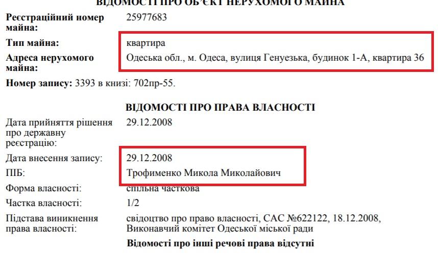 Прокурор Одесской области получил квартиру от мэрии, но живет в элитной новостройке