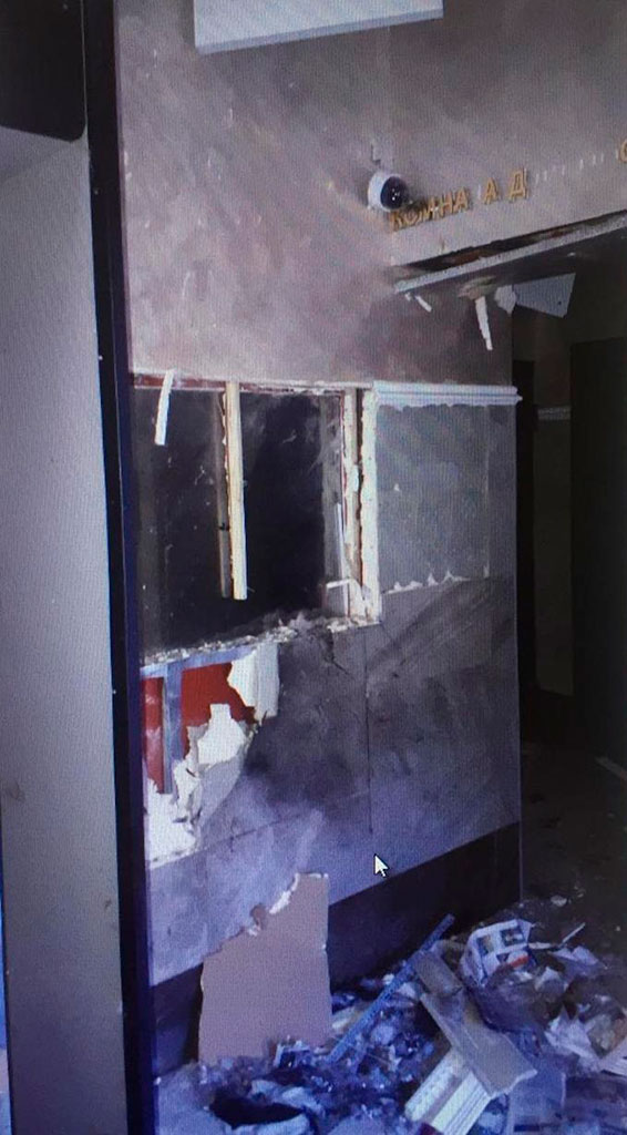 Появилось фото с места взрыва в архангельском управлении ФСБ