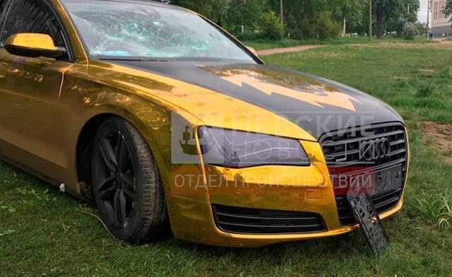Чемпион Волков уехал на Audi после пьянки в ресторане, после чего машину нашли в пруду