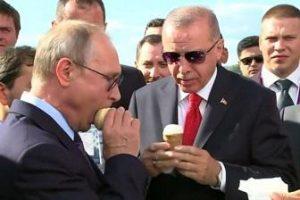 Путин и продавщица мороженого
