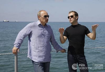 Рядом с дачей Путина строятся резиденции для премьера Медведева, банкира Ковальчука и другихприближенных президента