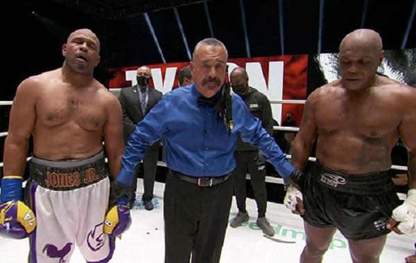 Майк Тайсон и Рой Джонс провели бой легенд