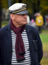 Встреча с Гобземсом на Эспланаде: среди сторонников — лидер «Нового поколения» Алексей Ледяев