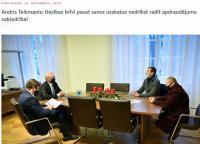 Руководитель канцелярии президента Латвии Тейкманис принял ковид-диссилентов Бабриса и Плявиньша
