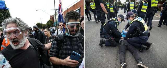 В Австралии акция против локдауна вышла из-под контроля: пострадали 10 полицейских